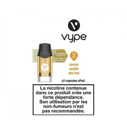 Capsules ePod Saveur Vanille des iles sel de nicotine - VYPE
