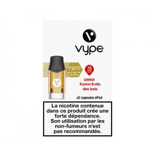 Capsules ePod Saveur Fusion fruits des bois sel de nicotine - VYPE