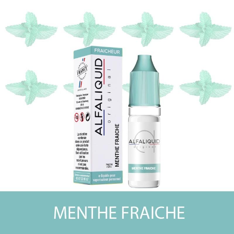 E-liquide Menthe Fraiche ALFALIQUID - e-clopevape-e-clopevape