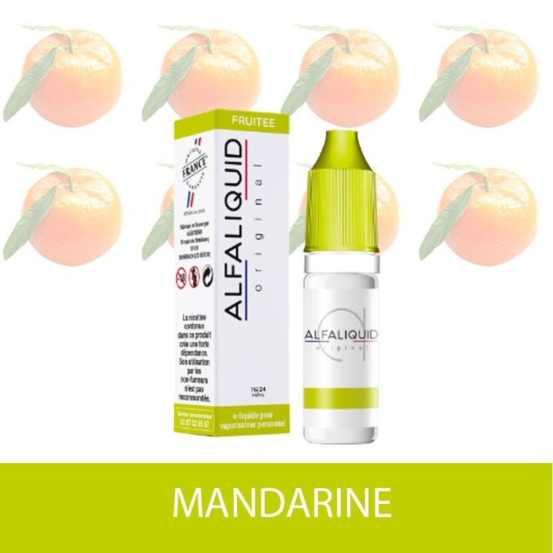 IMAGE E-LIQUIDE MANDARINE ALFALIQUIDE - e-clopevape-e-clopevape