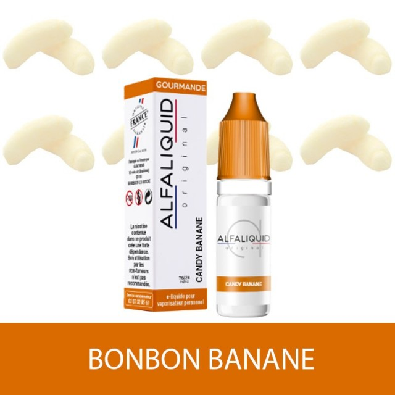 IMAGE E-LIQUIDE BONBON BANANE  ALFALIQUIDE - e-clopevape-e-clopevape