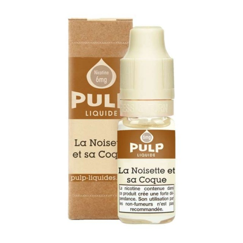 Image E-liquide La Noisette et sa coque Pulp-e-clopevape